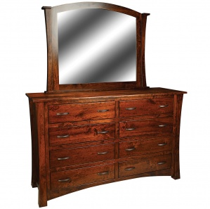Geddes Avenue Amish Dresser with Mirror Option
