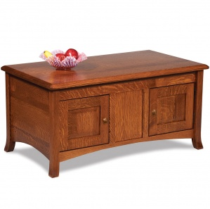 Summerfield Amish Coffee Table Cabinet with Lift Top Option