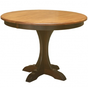 Hennessey Pedestal Amish Dining Table