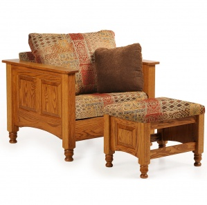 Westmont Amish Chair with Ottoman Option