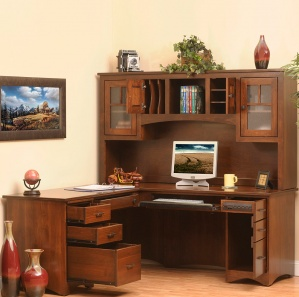 Prairie Mission Executive Amish Desk with Hutch Option