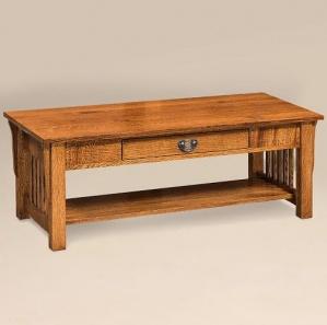 Avery Slat 1-Drawer Coffee Table