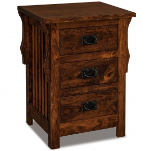 Stick Mission 3 Drawer Amish Nightstand