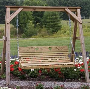 Cutout Heart Amish Swing