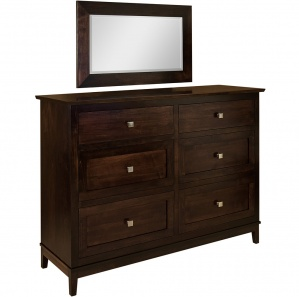 Crosby Row Amish Dresser with Mirror Option