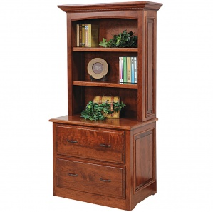 Liberty Lateral Amish File Cabinet with Bookshelf Option