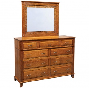Leighland Amish Dresser with Mirror Option