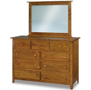 Eagle Hill 9 Drawer Mule Dresser with Optional Mirror