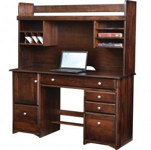 Merit Pullout Bookshelf Desk & Optional Hutch