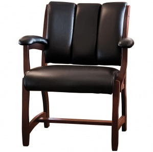 Edelweiss Amish Client Chair with Upholstered Arms