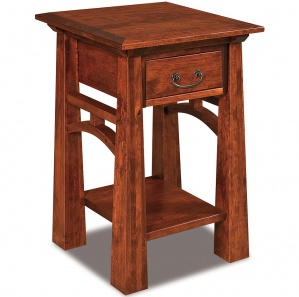 Artesa 1 Drawer Open Amish Nightstand