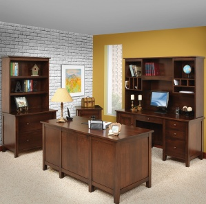 Manhattan Deluxe Amish Office Furniture Set