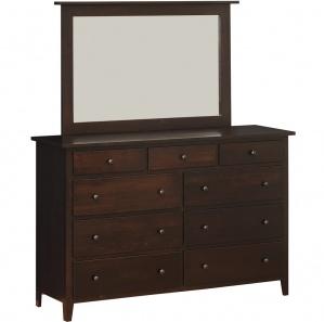 Vintage Amish 9 Drawer Dresser with Optional Mirror