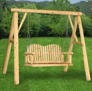 Hearthside Log A Frame Swing Stand
