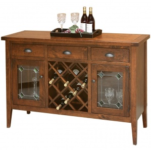 Jacoby Amish Buffet with Wine Rack