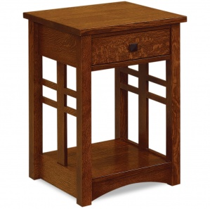 Kascade 1 Drawer Open Amish Nightstand