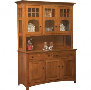 Tribecca 3-Door Amish Buffet & Optional Hutch