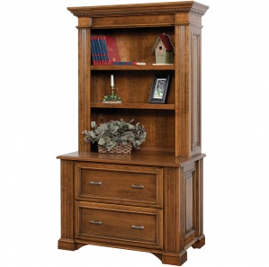 Lincoln Lateral File Cabinet with Optional Amish Bookcase