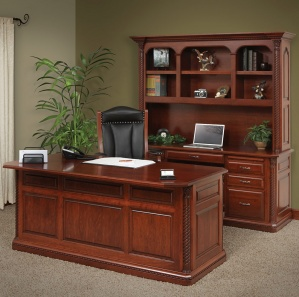 Lexington Deluxe Amish Office Furniture Set with Hutch Option