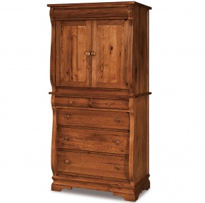 Fontaine 2 Piece Armoire with 5 Drawers