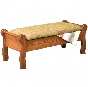 Sleigh Amish Bedroom Bench