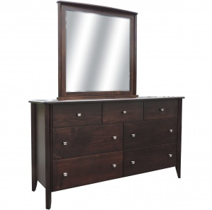 Casual Deluxe Amish Dresser with Mirror Option