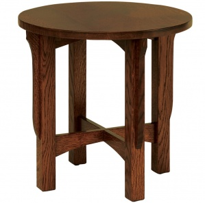 River Road Round Amish End Table