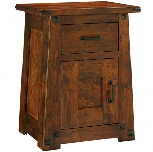 Encada 1 Drawer, 1 Door Nightstand