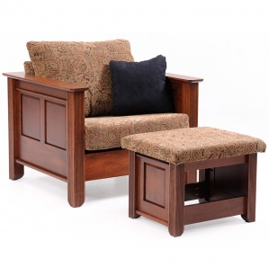 Arlington Heights Amish Chair with Ottoman Option