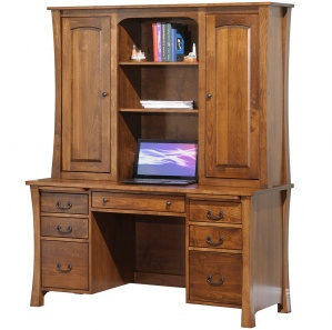 Woodbury Office Desk With Hutch