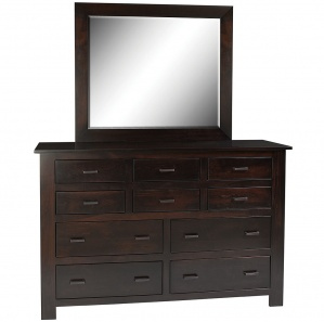 Horizon Shaker Amish Dresser with Mirror Option