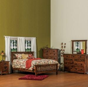 Stick Mission Amish Bedroom Set