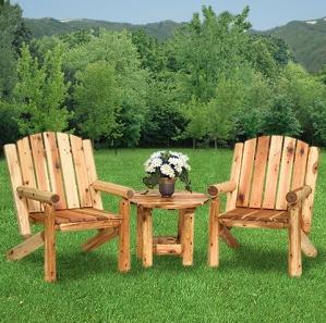 Hearthside Adirondack Log Chair Set
