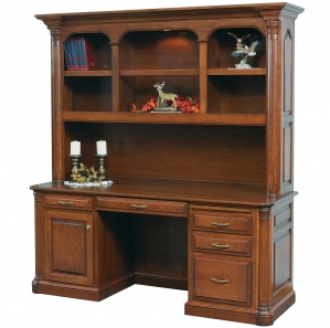 Jefferson Credenza Base with Amish Hutch Option