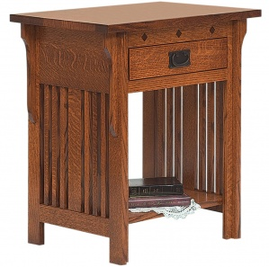 College Hill 1 Drawer Amish Nightstand