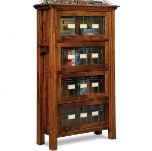 Artesa Leaded Glass Barrister Amish Bookcase