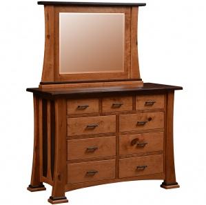 Castella Amish Dresser with Optional Mirror