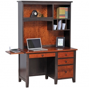 Manhattan Workstation with Amish Hutch Option
