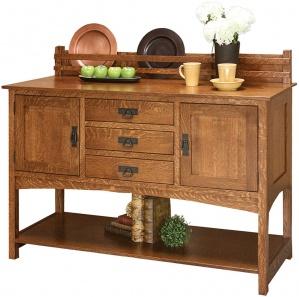Brookhurst 3 Drawer Plate Rack Sideboard Cabinet
