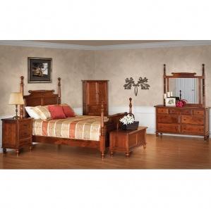 Rolling Pin Amish Bedroom Furniture Set