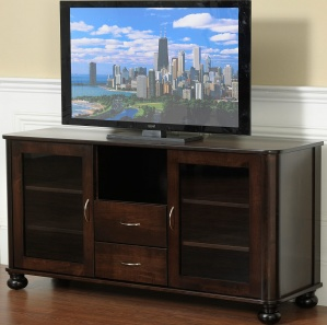 Paxton Place Amish Media Cabinet with Drawers