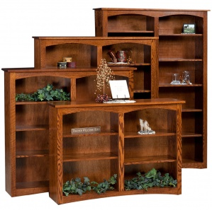Shaker Double Bookcases with Optional Doors
