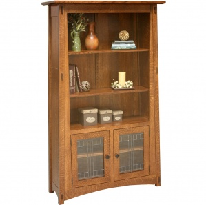 Messina Leaded Glass Bookcase Cabinet