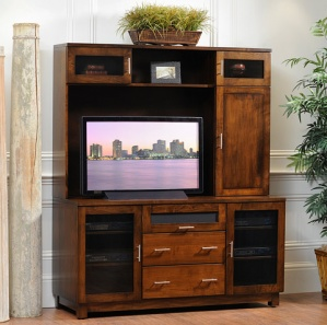 Urban Entertainment Center with Optional Hutch