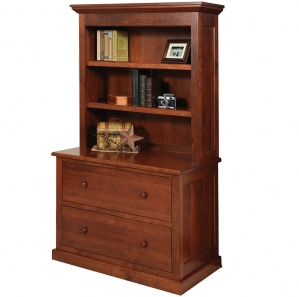 Homestead Lateral File Cabinet with Amish Bookcase Option