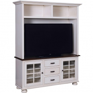 Kaitlyn Amish TV Cabinet and Hutch
