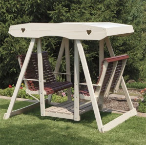 Poly Double Outdoor Amish Swing