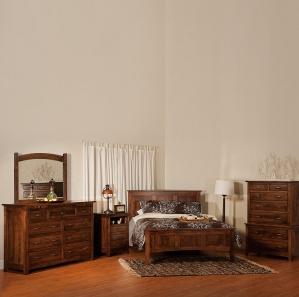 Milan Mission Amish Bedroom Set