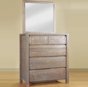 Sequoia Amish Chest of Drawers & Optional Mirror