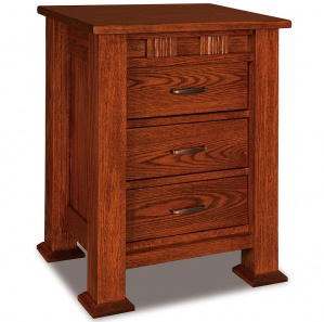 Sequoyah 3 Drawer Amish Nightstand